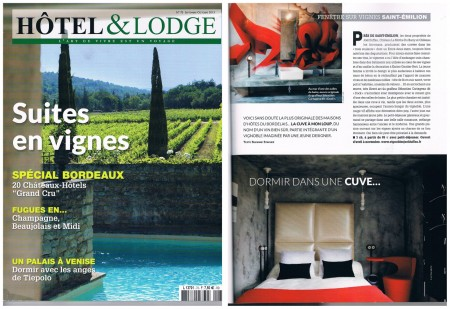 Article Hotel et Lodge, Vignobles Joël Duffau